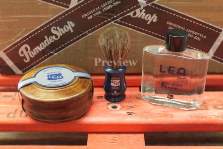 LEA Shaving Kit 3 - Rasierseife, Rasierpinsel, Aftershave