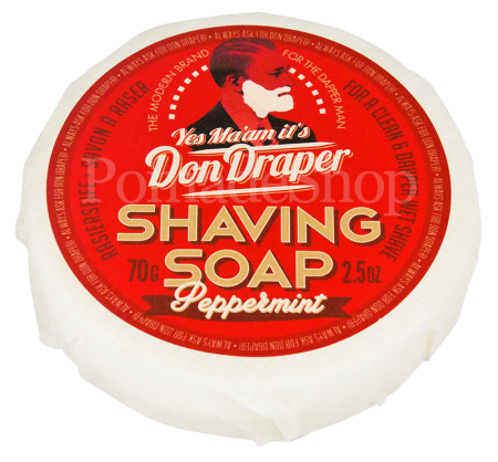 "DON DRAPER Shaving Soap ""Peppermint"""