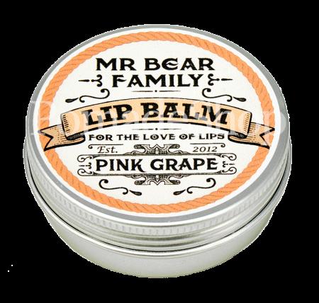 Mr. Bear Lip Balm Pink Grape