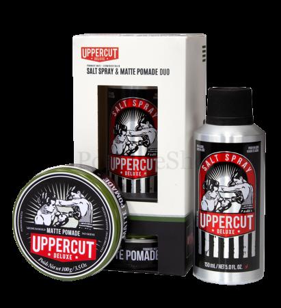 Uppercut Matte Pomade & Salt Spray Duo