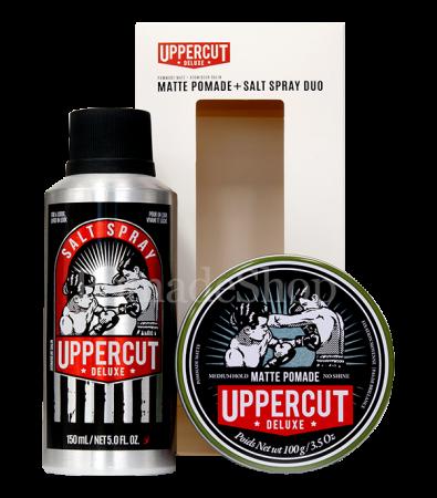 Uppercut Matte Pomade & Salt Spray Duo Set