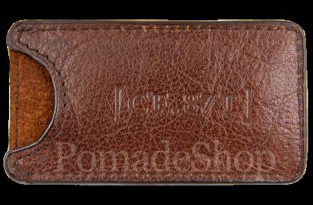 Captain Fawcett's Moustache Comb Leather Case