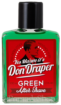 DON DRAPER After Shave GREEN