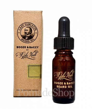 Ricki Hall with Captain Fawcett's Booze & Baccy Beard Oil