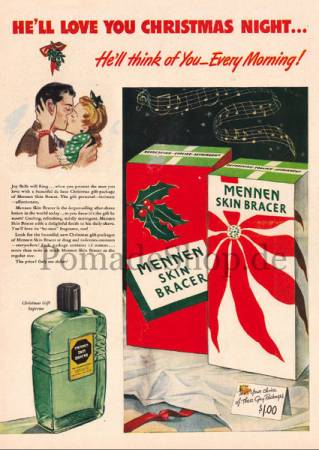 """Weihnachtskarte """"Mennen Skin Bracer (1953)"""""""