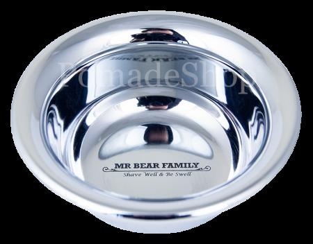Mr Bear Family Shaving Bowl Stainless Steel