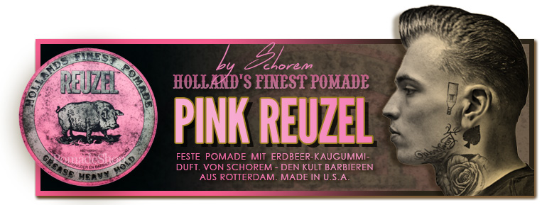 Reuzel Pink Heavy Hold Grease Pomade