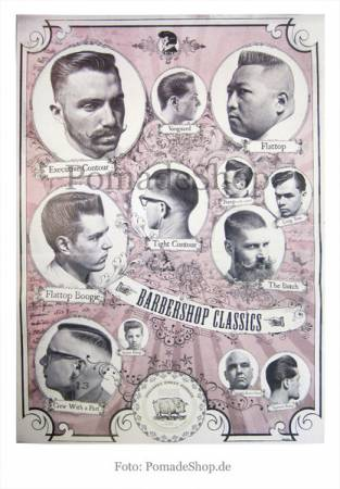 """Reuzel Poster """"The Barbershop Classics"""" (ROT)"""