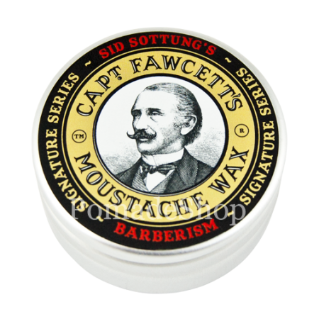 Captain  Fawcett Sid Sottung's Barberism Moustache Wax