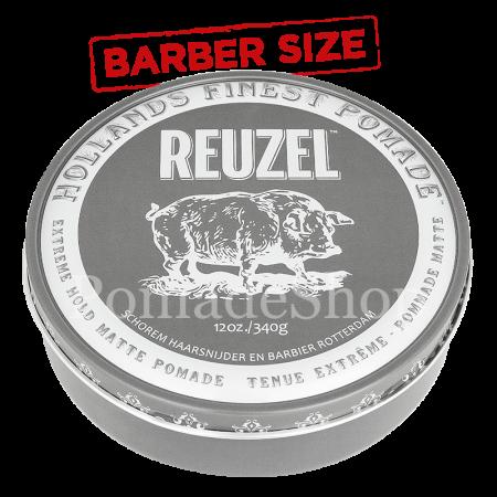 Reuzel Extreme Hold Matte Pomade Big Barber Size