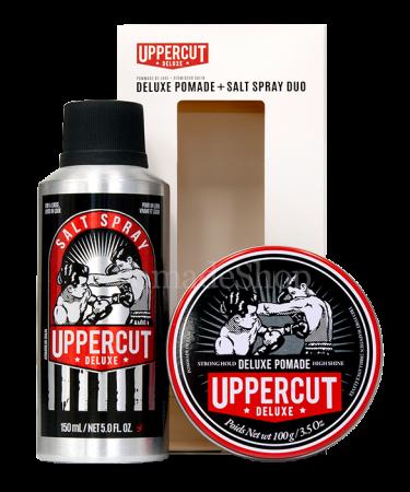 Uppercut Deluxe Pomade & Salt Spray Duo Set