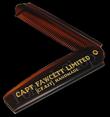 Captain Fawcett's Folding Pocket Beard Comb