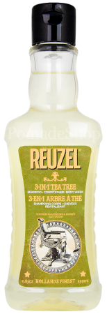 Reuzel 3-in-1 Shampoo Conditioner Body Wash Tea Tree 350 ml
