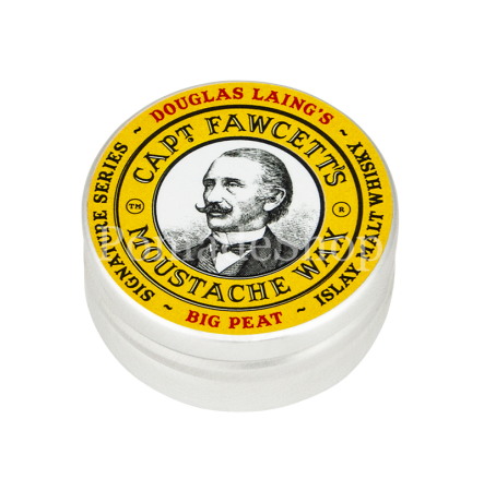 Captain Fawcett´s BIG PEAT Islay Malt Whisky Moustache Wax