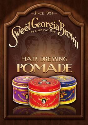 "Poster ""Sweet Georgia Brown Pomade"""